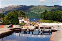 Fort Augustus locks on the Caledonian Canal